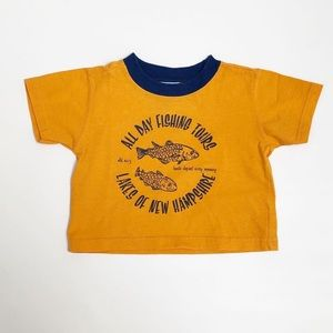 Old Navy yellow and blue printed tee
